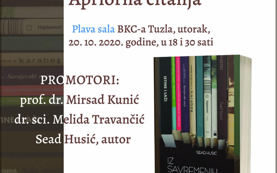 """Najava promocije knjige """"Iz savremenih književnosti – Apriorna čitanja"""""""